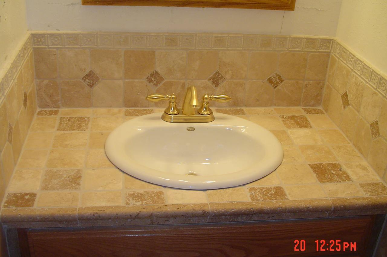tile over bathroom vanity